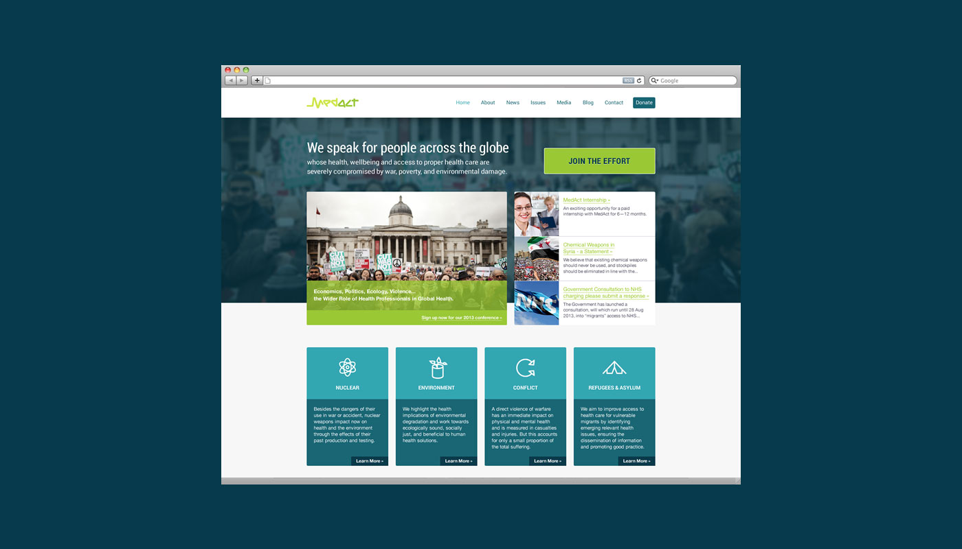 MedAct Website Design