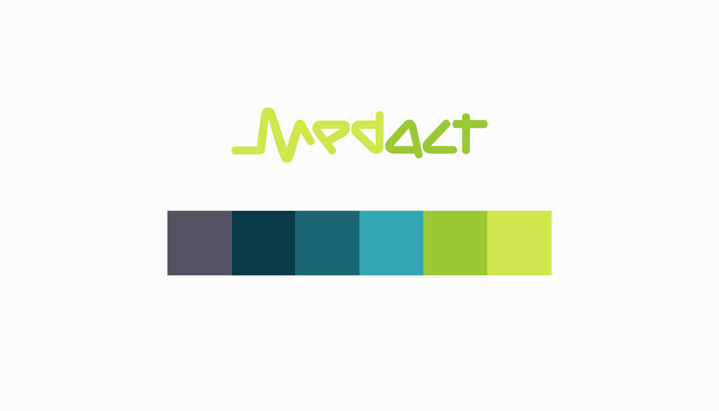 MedAct Website Design Colour Pallet