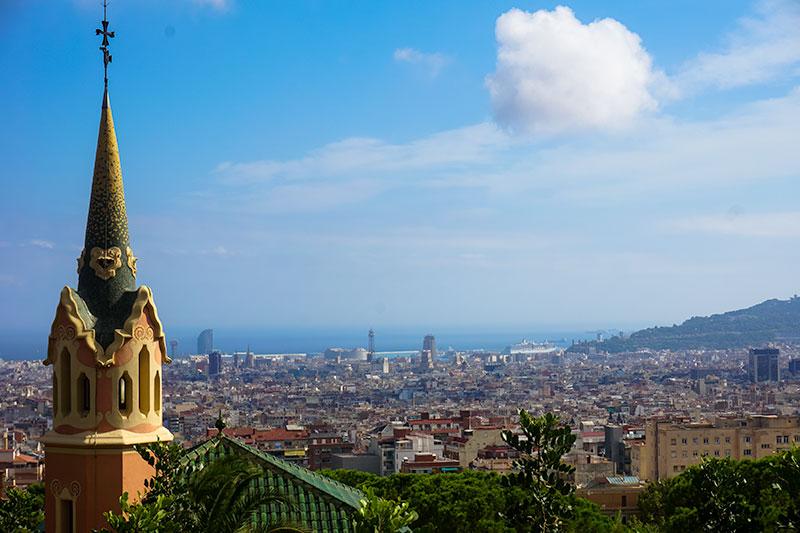Barcelona Gaudi Park View