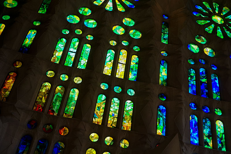 Staned Glass Windows of the Amazing Sagrada Familia